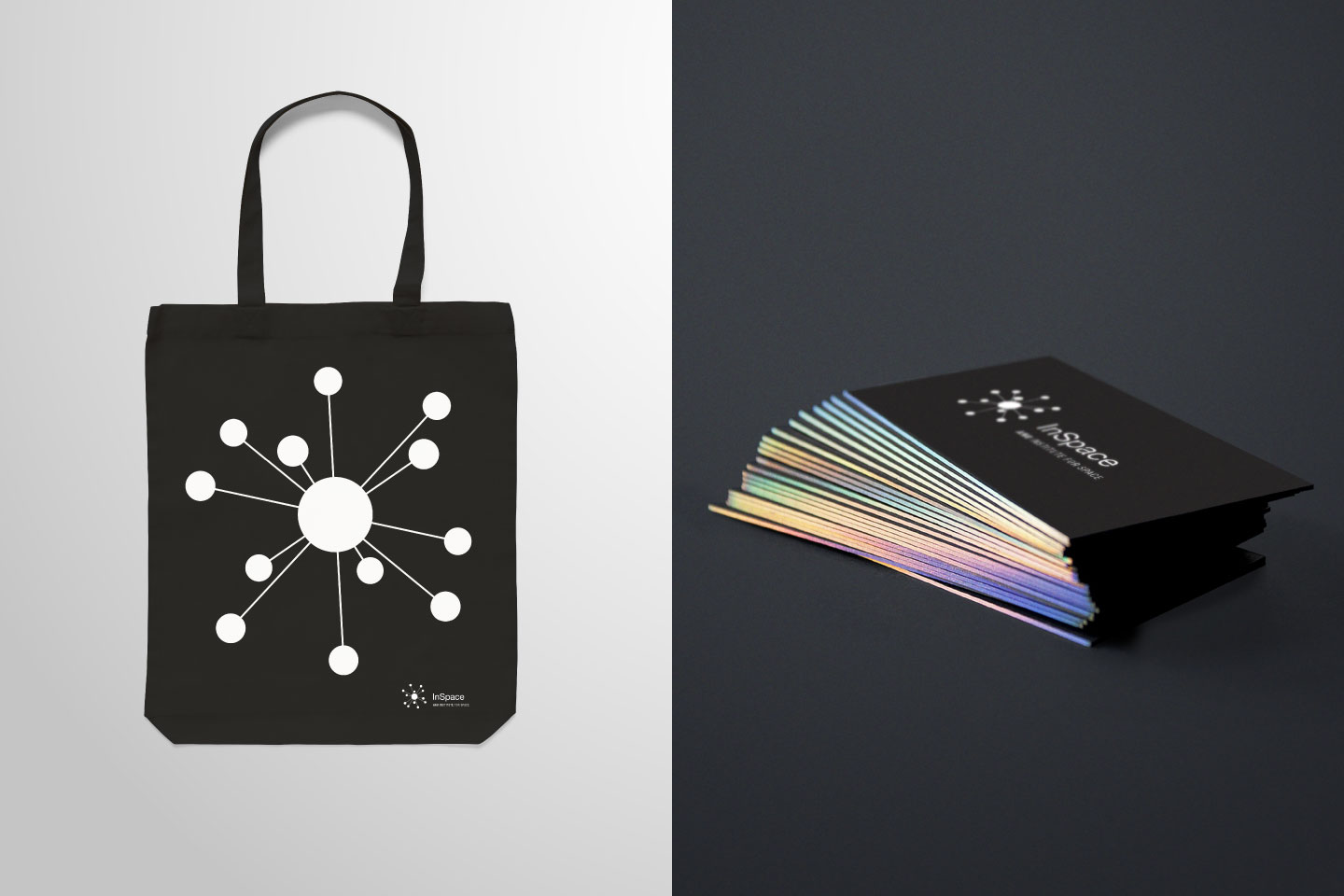 Branded tote bag and business cards